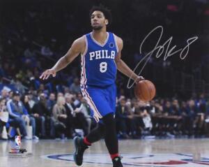Jahlil Okafor Signed Philadelphia 76ers 16x20 Photo (Schwartz)