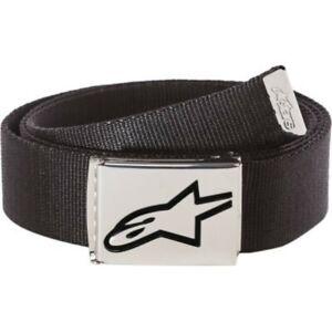 Alpinestars Ageless Web Belt - Black/Black or Black/Chrome One Size