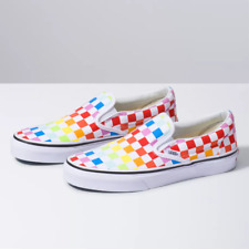 Vans CLASSIC SLIP ON Checkerboard Canvas Sneaker Shoes All Size NEW IN BOX !