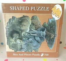 Bits and Pieces Shaped Puzzle Wild Africa 750 Pieces Brand New!