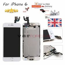 for iPhone 6 White LCD Screen Replacement Digitizer Camera Gold Home Button