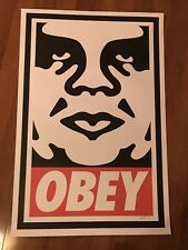 """SHEPARD FAIREY OBEY GIANT ICON 24""""x36"""" SIGNED OFFSET ART PRINT POSTER!"""