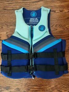 Body Glove Women's Dual-Size Evoprene PFD Life Jacket ADULT L/XL Blue NEW MARINE