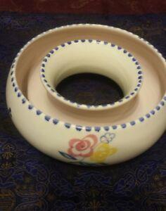 1950's Vintage Poole Handpainted Floral Posy Bowl .