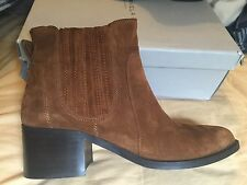 Carvela Brown Ankle Boots Kurt Geiger SuedeLeather Shoes Size 7 Euro 40.