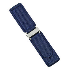 B & R Bands Navy Double Layer Nylon Hook N' Loop Watch Band Strap 20mm 22m 24mm