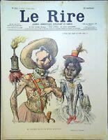 Le RIRE N° 344 du 8 Juin 1901 - Mr  CROZIER pilote la reine RANAVALO