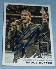 Bruce Buffer Signed UFC 2011 Topps Moment of Truth Card #149 PSA/DNA COA Auto'd