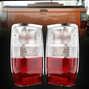 Fit 86-97 Mitsubishi L200 DODGE RAM COLT MIGHTY MAX Clear Red Tail Light Lamp