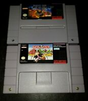 Super Nintendo SNES Game Lot Monopoly & Populus / Tested & Working Authentic!