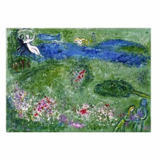 CH0043 - CHAGALL - Dafhnis and Chloe - AUTHENTIC 1977 Vintage Lithograph