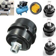 1/4 3/8 Thread Air Compressor Intake Filter Noise Muffler Silencer Black