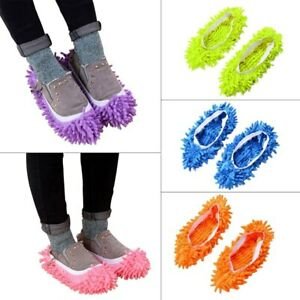 5 Pairs Microfibre Shoe Sock Mop Slippers  Remover Cleaning Floor Polishers UK