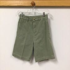 George Vintage Boys Uniform Green Bermuda Shorts Size 12