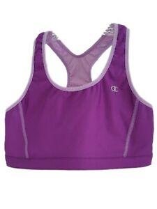 CHAMPION M Medium Purple Reversible Racerback Yoga Athletic Sports Bra 9303