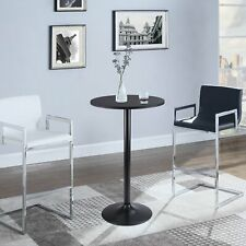 "Round Bistro Pub Table 23.8"" Bar Height Cocktail Table w/Metal Leg and Base"