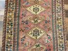 "Authentic 3'2""x5'6"" Antique rare Find Handmade wool Birds Malayer Oriental rug"