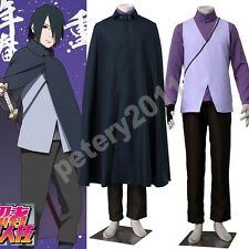 Boruto Vest Naruto Uchiha Sasuke the Movie Cosplay Costume Coat Anime  Shirt