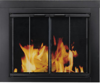 Large Glass Fireplace Doors to Reduce Heat or Cool Air Loss Up The Chimney
