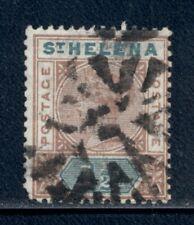 ST. HELENA 42 SG48 Used 1890 1&1/2p brn & grn QVIC Cat$15