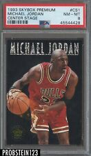 1993-94 Skybox Premium Center Stage Michael Jordan Chicago Bulls HOF PSA 8