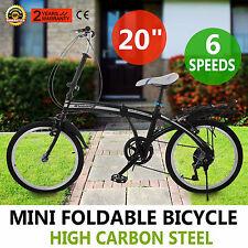 Klappfahrrad Klapprad Faltrad Fahrrad 20 Zoll 6Gang Shimano schwarz weiß