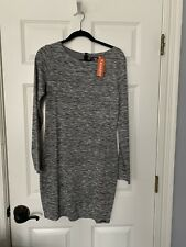 SuperDry Party Bodycon Mini Dress Long Sleeve Size L