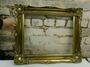 """vintage old picture frame GOLD  fits a 20 inch X 16"""" painting"""