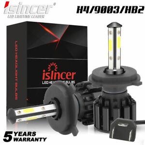 4SIDE H4 9003 LED Headlight Kit High Low Beam Bulbs 18000LM HID WHITE 6000K F6