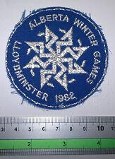 Lloydminster 1982 Alberta winter games, cloth, sew, patch