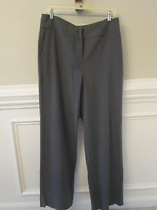 NEW CHICO'S Gorgeous Slate Gray Pinstripe Dress Pants Stretch CAREER Sz 2 REG