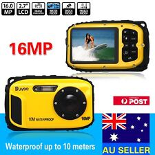 16mp Underwater Digital Video Camera 30ft Waterproof Dustproof Freezeproof AU