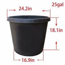 1/2/3/5/7/10/20/25 Gallon Black Plastic Plant Flower Pot Nursery Containers