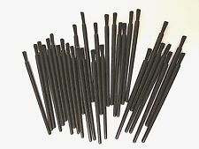 "Lot of 25 small 3"" black polyester brushes for Arts Craft painting multi uses"