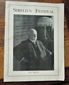 SIBELIUS FESTIVAL  SIR THOMAS BEECHAM QUEEN'S HALL LPO programme
