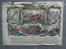 MORT DE NAPOLEON III 1873 Gravure ancienne imagerie image d'Epinal PELLERIN