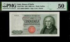 Italy 5 000 Lire 1968 PMG 50  P# 98b