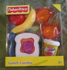 Fisher Price Fun Food Lunch Combo Orange Peel Jelly Bread PB & J Banana Apple