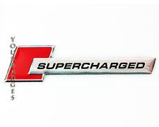 Aluminio cepillado sobrealimentados Placa De Coche Placa en rojo S4 S5 RS4 RS6 Audi