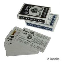 2 Decks Magic Trick Playing Cards Svengali Secret Marked Taper Long N Short