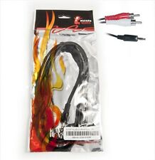 Wicked Wired 2m 3.5mm Male Stereo To Red & White Male RCA Audio Cable