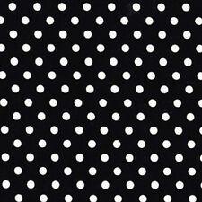Michael Miller Dumb Dot Polka Dot Fabric in Black & White 1y 100% Cotton