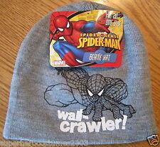 The Amazing Spider-Man Child Winter Hat Marvel Comics NWT - Gray