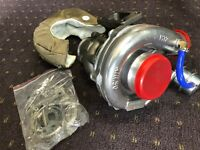 550HP T3 TURBOCHARGER (T3/T4) + TITANIUM HEAT COVER TURBO KIT FOR RB20 RB25 RB30