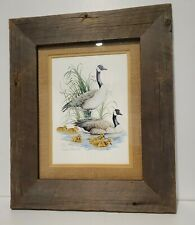 Original Signed Duck Art by Charles Pearson - Mated Wood Framed 257/300