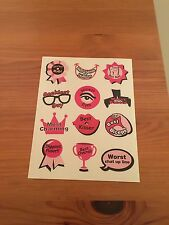Hen Party Male Rating Sticker Sheet Game