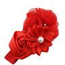 bandeau pour cheveux à fleurs rose perle satin bébé fille Parure