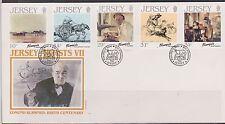 GB-Jersey 1986 E. blampied 100th Ann/pinturas Artista Serie Iv Sg 397/401 FDC