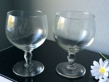 Large Goblets Balloons Wine Glasses Set of 2 Clear Stem 300ml Drink Cups Vintage