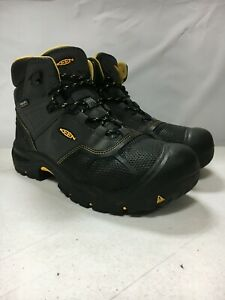 USED KEEN LOGANDALE STEEL TOE WATERPROOF BOOT BLACK SIZE 12 FREE SHIPPING